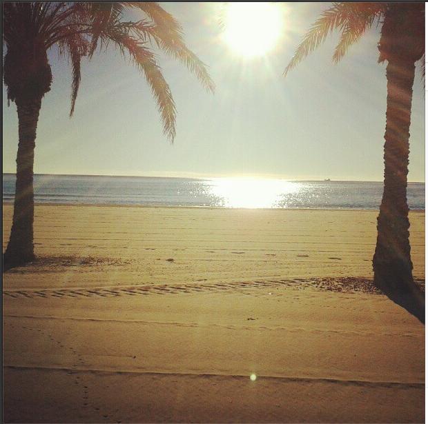 Teletrabajo en la playa