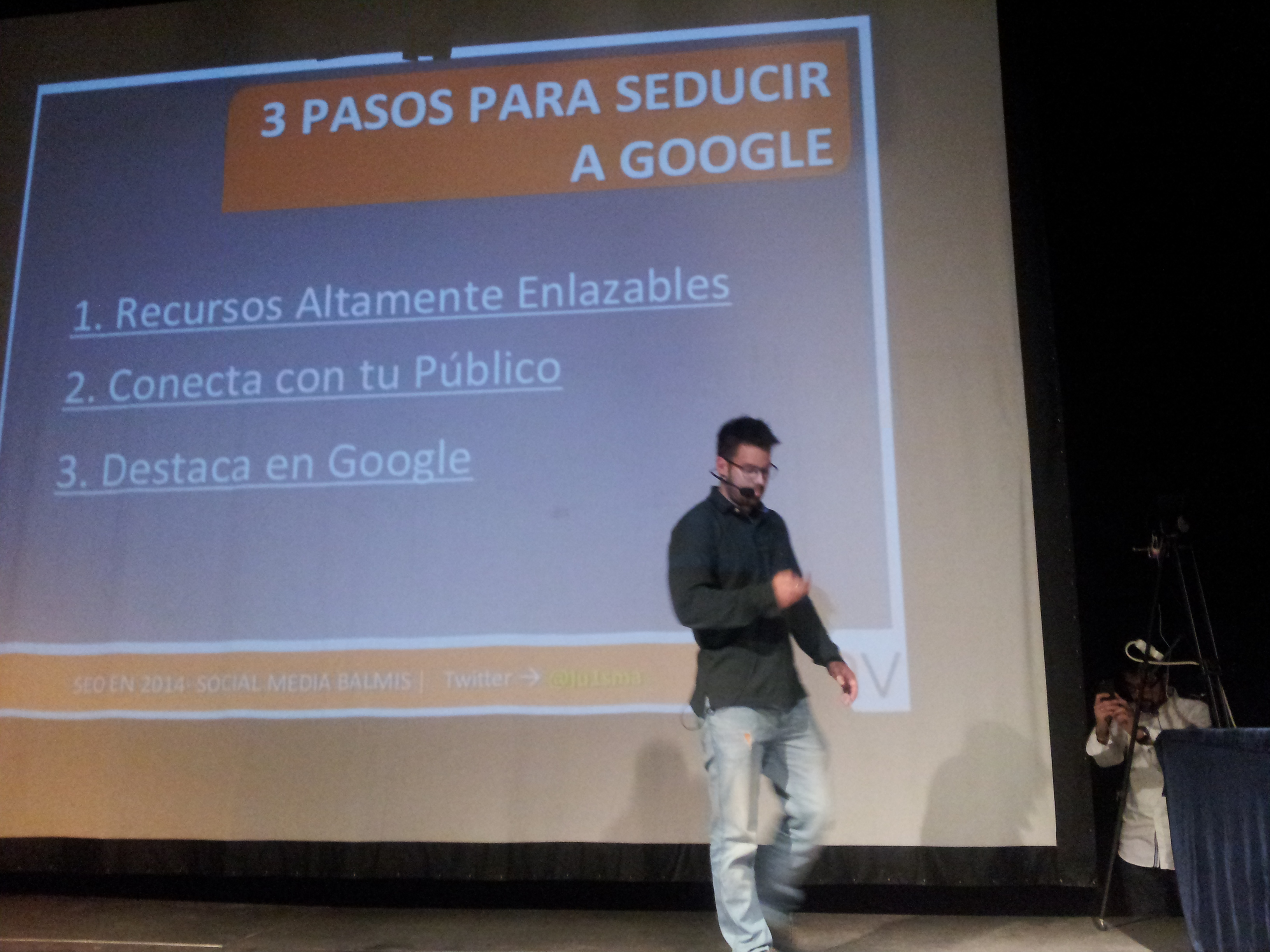 Luis en evento #SocialMediaBalmis de Alicante