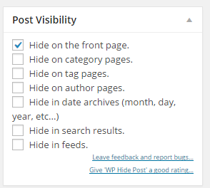 Post visibility wordpress