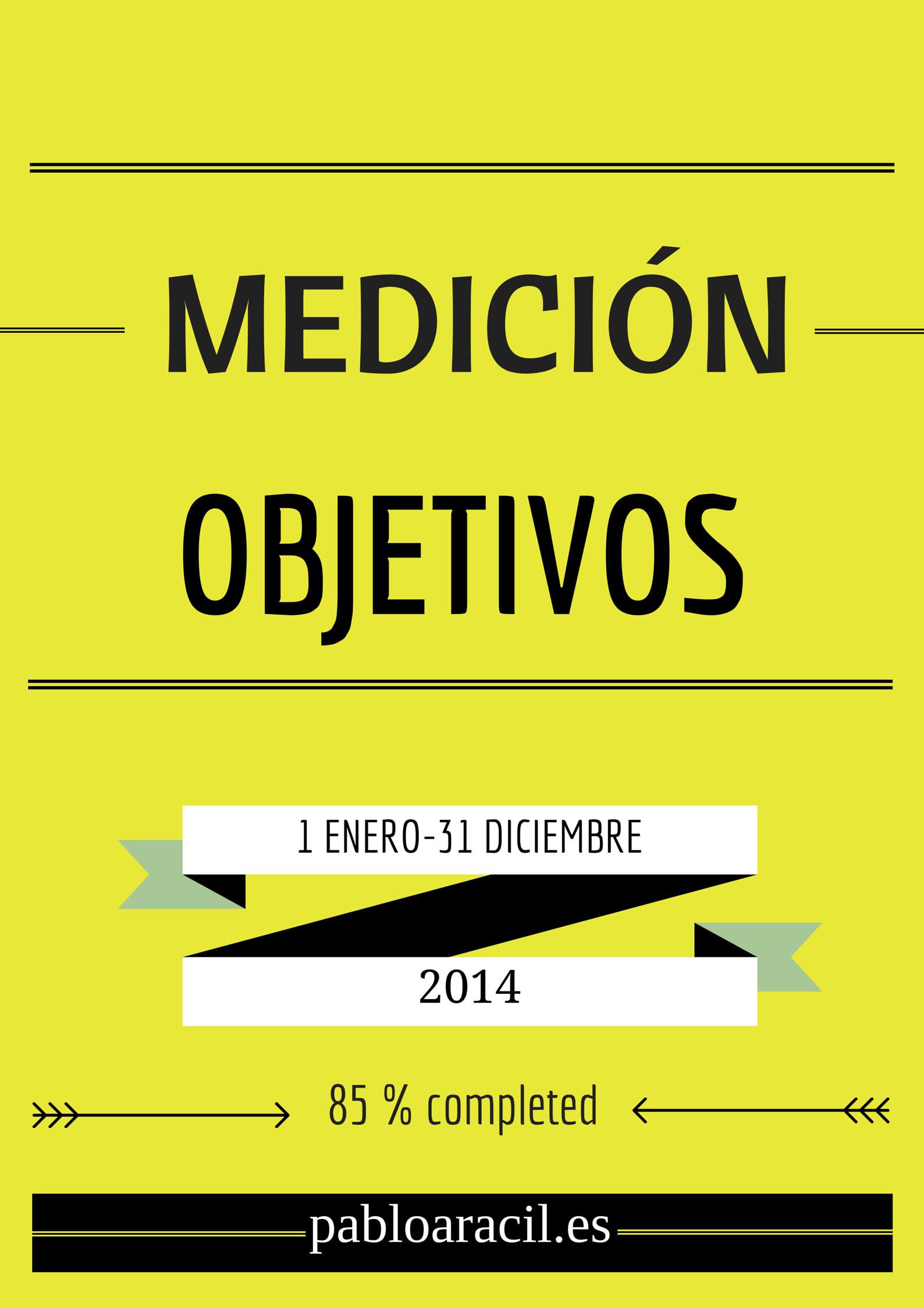 medición objetivos 2014 en pabloaracil.es