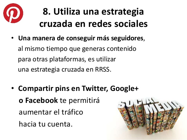 Compartir pines en redes sociales-Pinterest