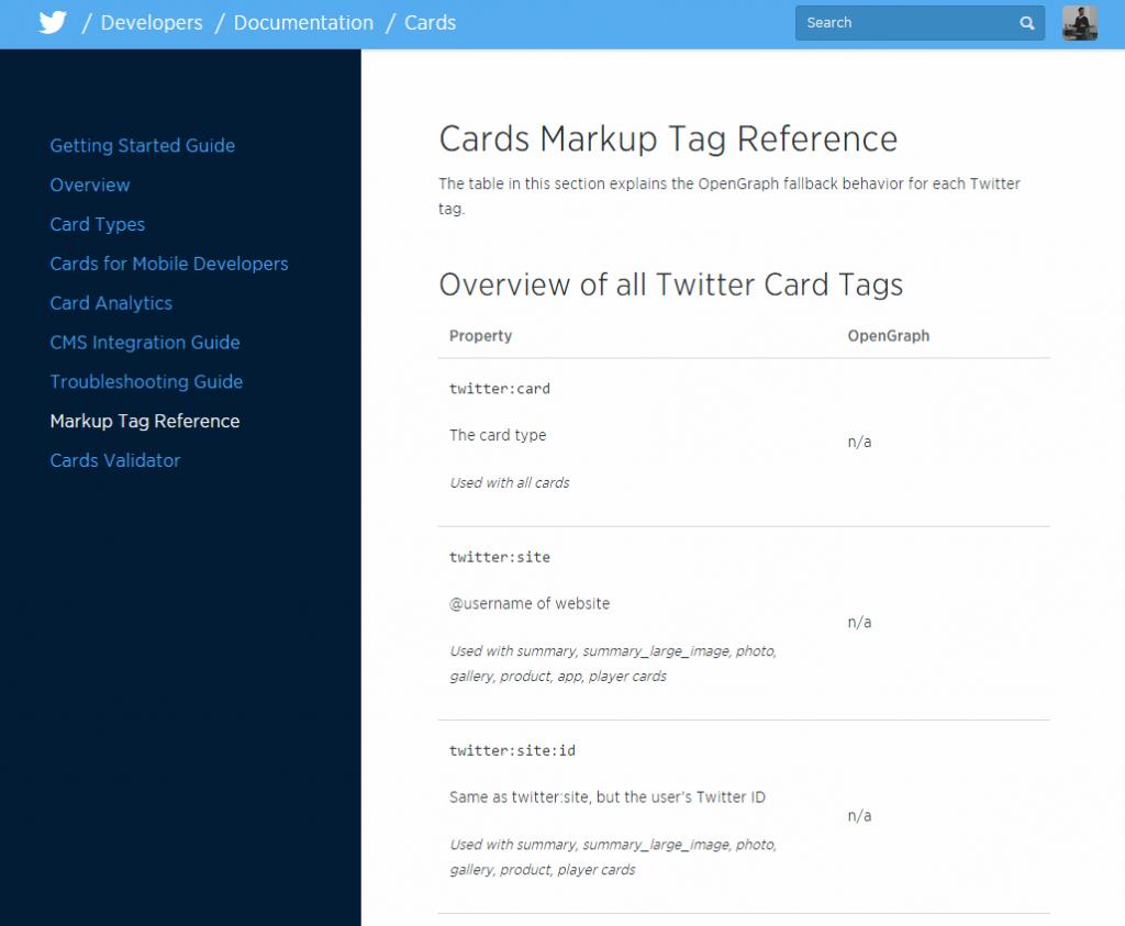 Etiquetado de las twitter cards