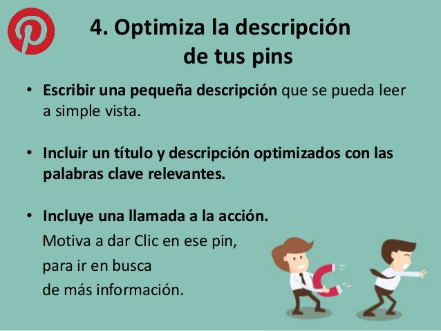 Optimizar descripción pins SEO Pinterest