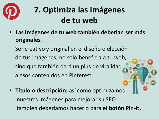 Optimizar imágenes web Pinterest