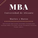 MasterClass en el MBA de la Universidad de Alicante
