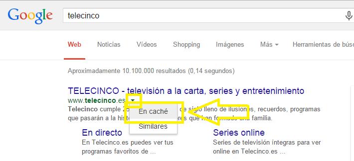 Cache en Google