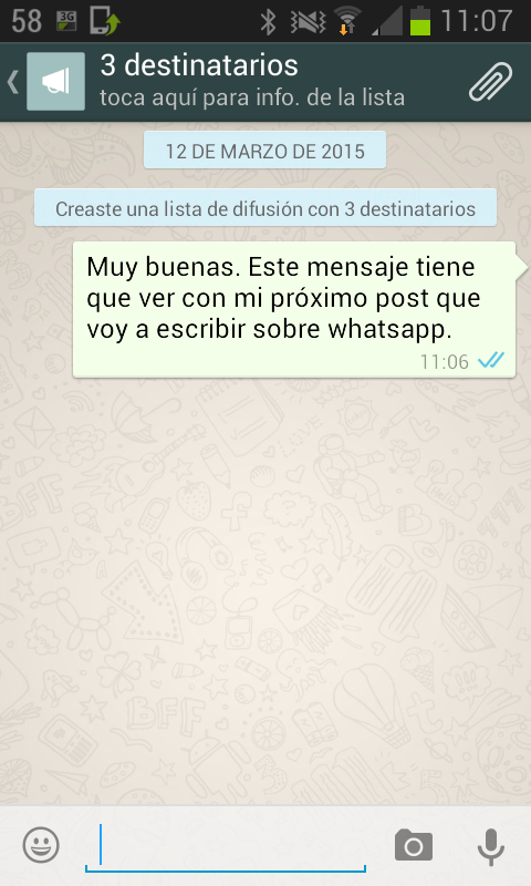 Mensaje a varios destinatarios en WhatsApp con listas de difusión