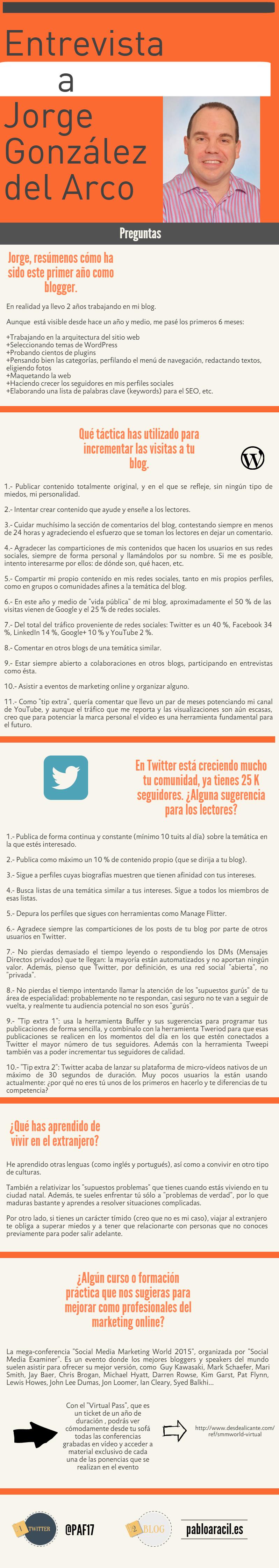 Infografía a Jorge González del Arco
