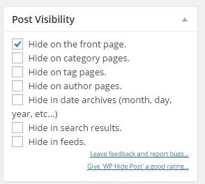 Post visibility wordpress