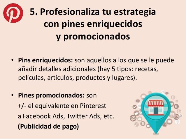 Pines enriquecidos y promocionados-Pinterest