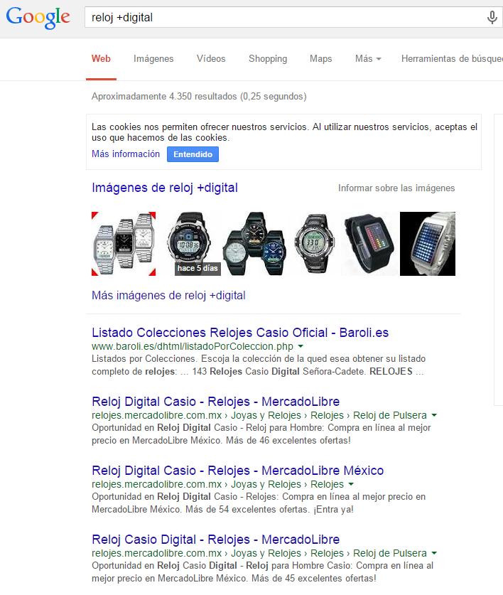 Incluir término de búsqueda en google