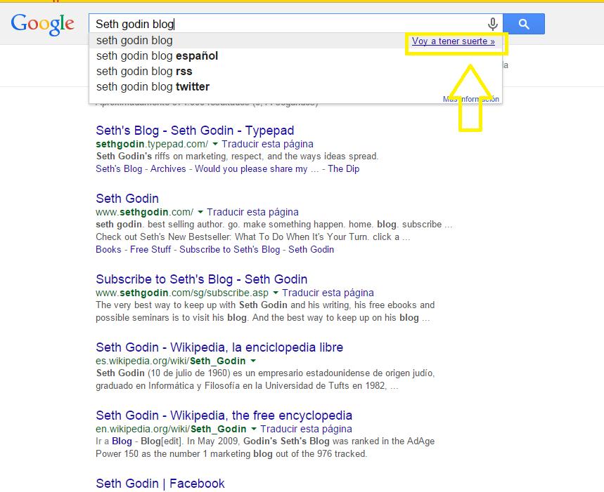 Voy a tener suerte Google