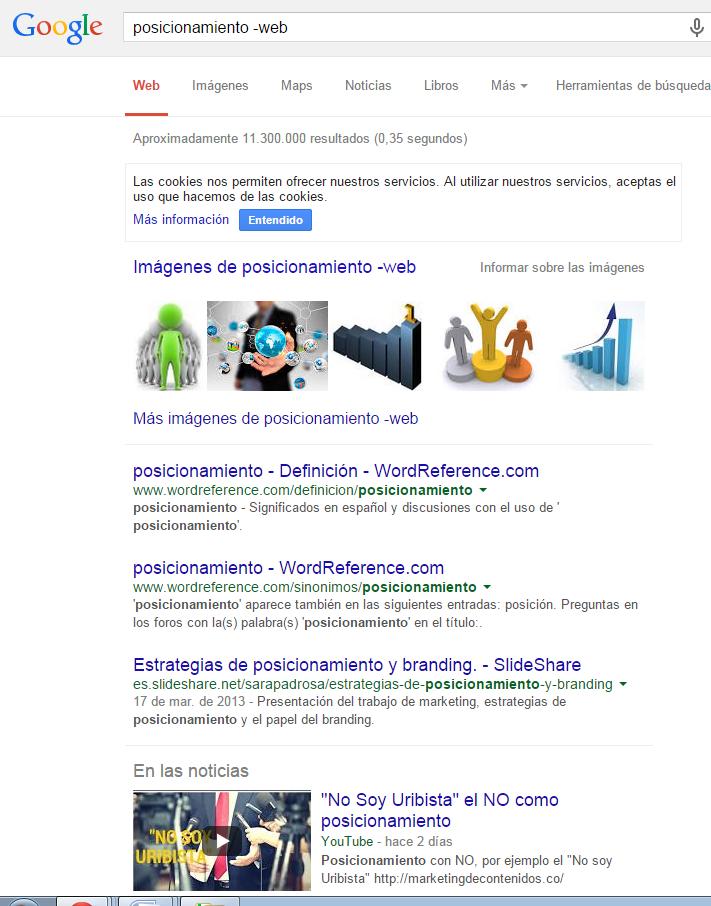 excluir términos de búsqueda