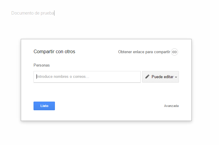 Compartir documentos con Google Docs