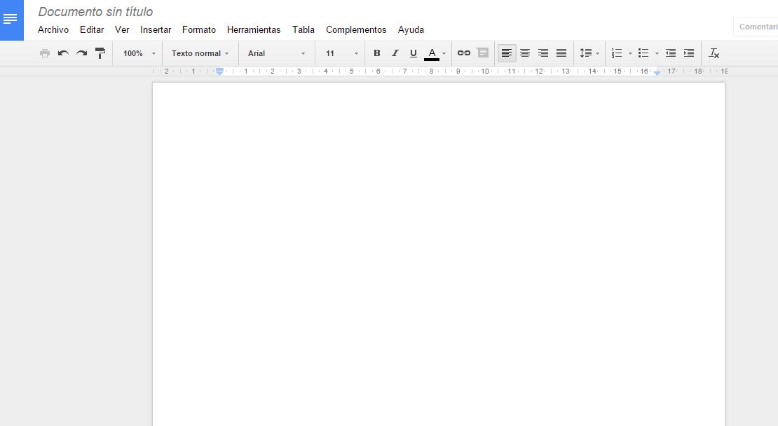 Nuevo Documento en Google Docs