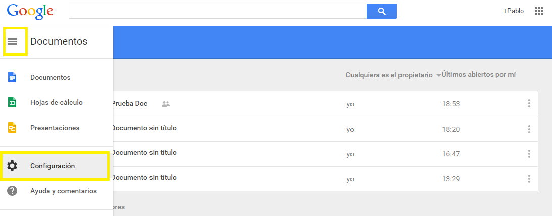 Trabajar sin conexión-Google Docs