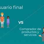 Usuario final vs comprador de productos y servicios